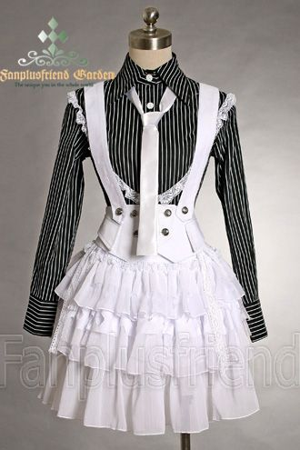 Gothic Punk Lolita Chiffon Double Lacing-up Tiered Skirt*Instant Shipping
