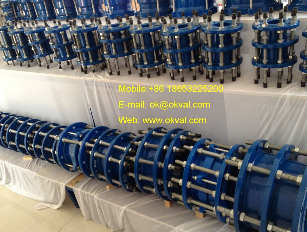 medium resolution of dismantling joints pn6 pn10 pn16 pn25 dn 50 dn 1600 ductile iron carbon steel stainless steel gasket epdm nbr or silicone coating epoxy okval
