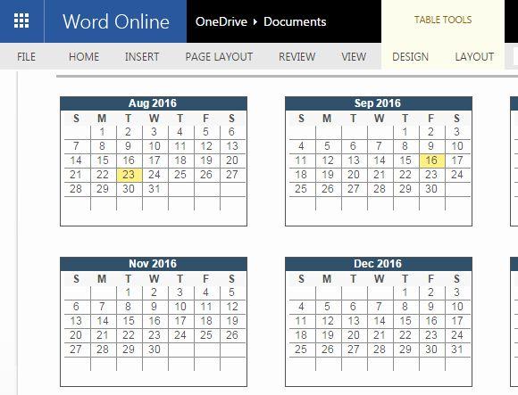 2016 2017 Calendar Template Elegant 2016 2017 Academic Calendar Template For Word Line In 2020 2017 Calendar Templates Calendar Template Word Online