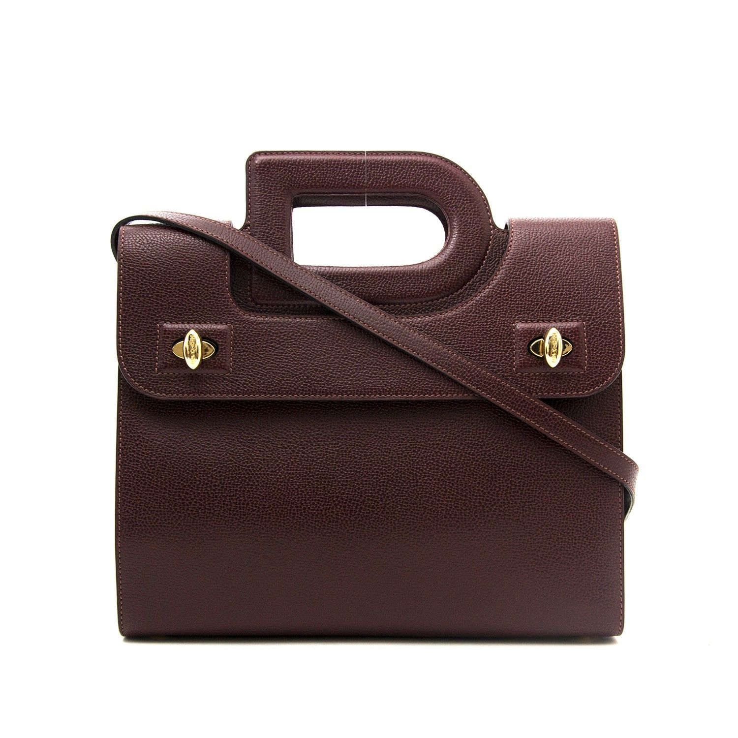 71df6ca21 Labellov Delvaux Burgundy D Handle Bag ○ Buy and Sell Authentic Luxury