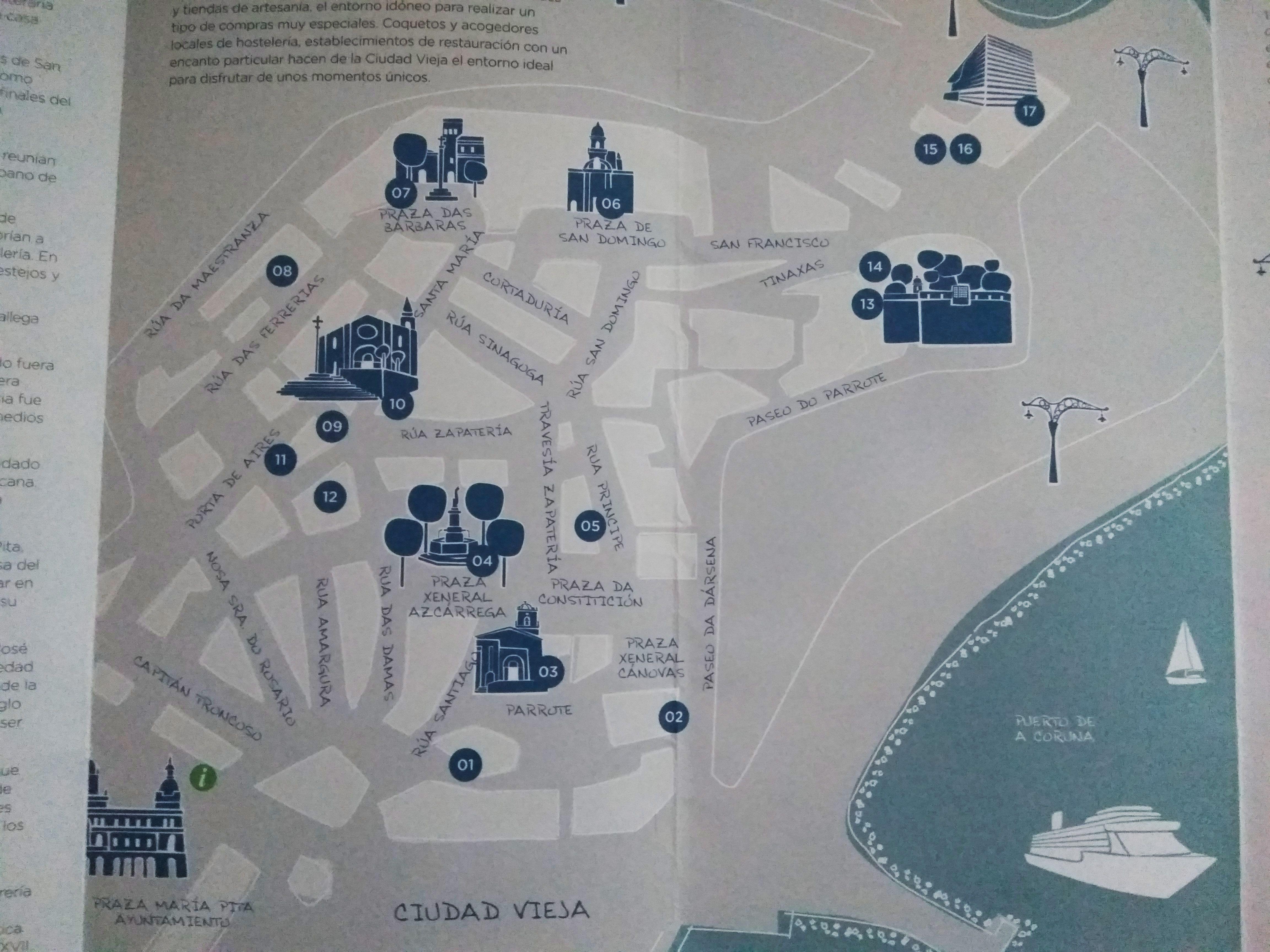 Mapa turístico Galicia