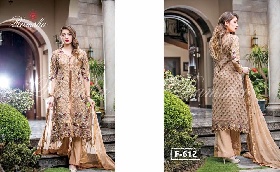 8a96aa062a Buy Online Ramsha Embroidered Chiffon Collection 2017 Vol-6 | 1000+ ...