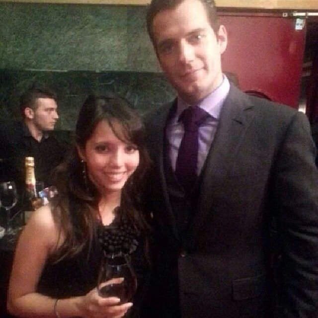 #loremrtnz (IG) shares a moment w/ #HenryCavill at the Madrid premiere of #ManofSteel. She just shared this pic. Lucky girl!