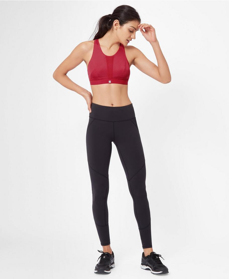 c15230b400199 Sweaty Betty High Intensity Run Bra - Scarlet Red 34Dd