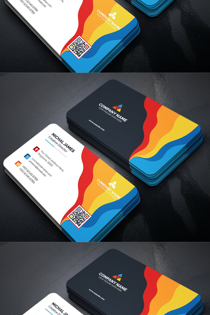 Colorful Business Card Corporate Identity Template Business Cards Corporate Identity Colorful Business Card Business Cards Creative Templates
