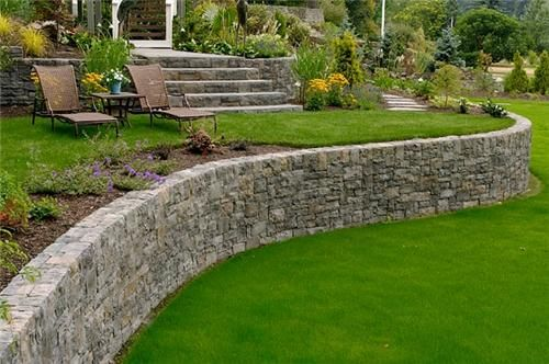 curved retaining wall retaining and landscape wall big sky landscaping inc portland - Retaining Walls Designs