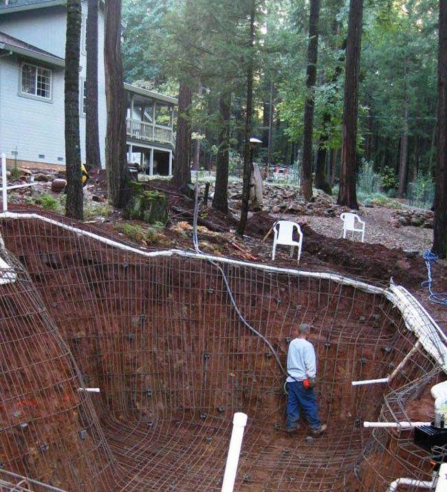 Image result for hillside home with natural self cleaning for Pool design hillside