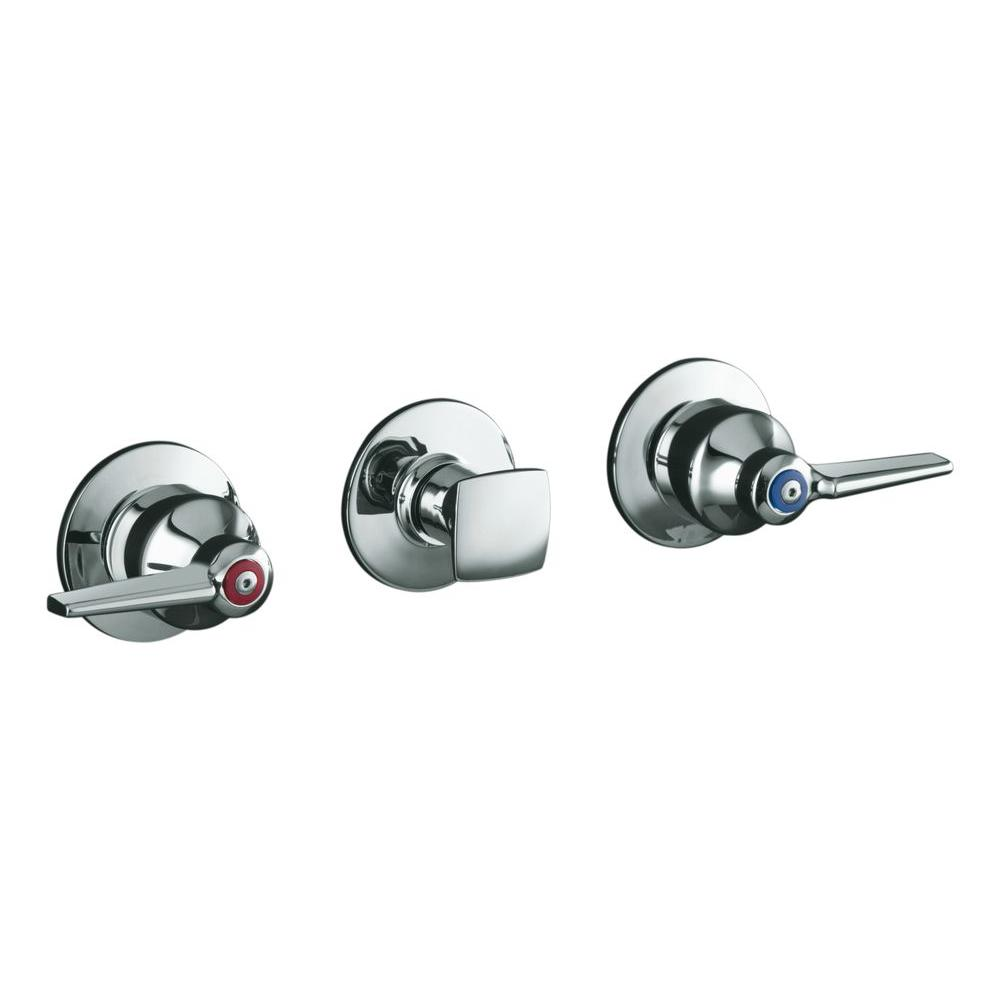 Kohler Triton 3 Handle Wall Mount Valve Trim Kit In Polished