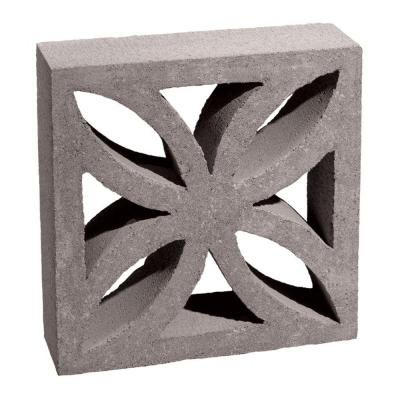 12 In. X 12 In. X 4 In. Gray Concrete Block 100002873   The Home Depot