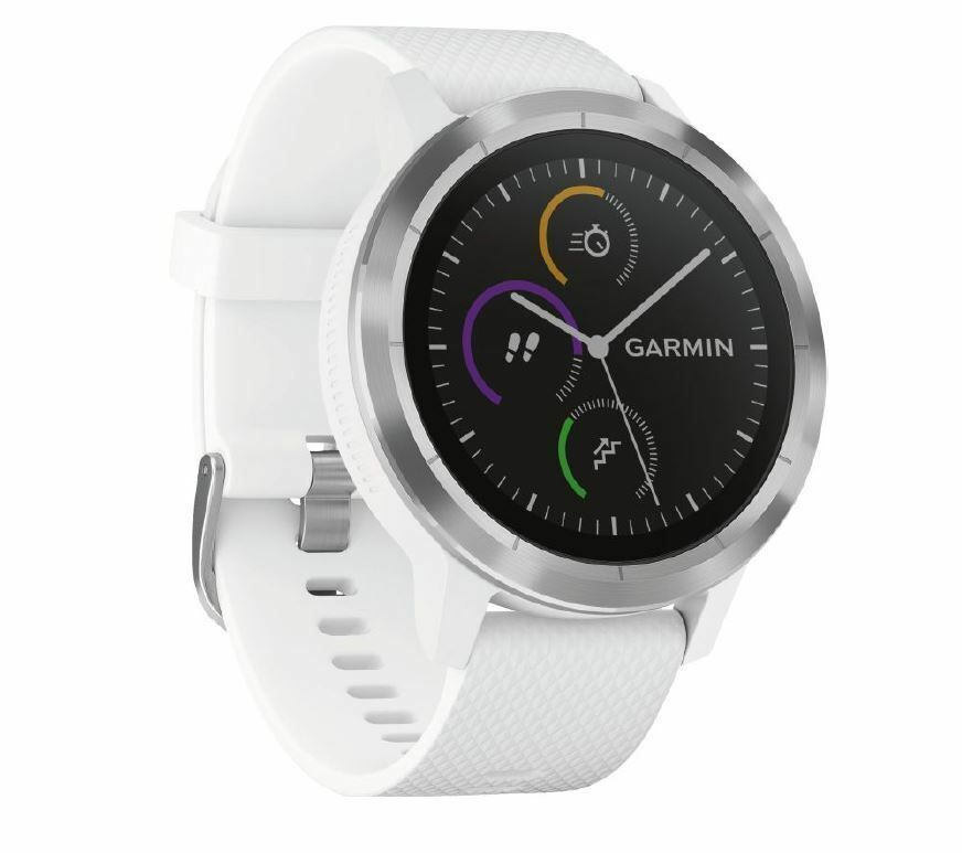 Garmin Vivoactive 3 Weiss Silber Smartwatch Schlafaberwachung Neu Smartwatch Fitness Uhr Fitness Armband