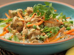 Peanut Chicken Rice Recipe | Get Your Full Course