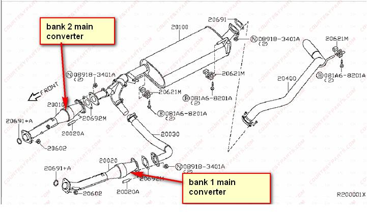 b7dd771787b73b427425697901d8cedc 2006 nissan pathfinder catalytic converter diagram 1 rooms