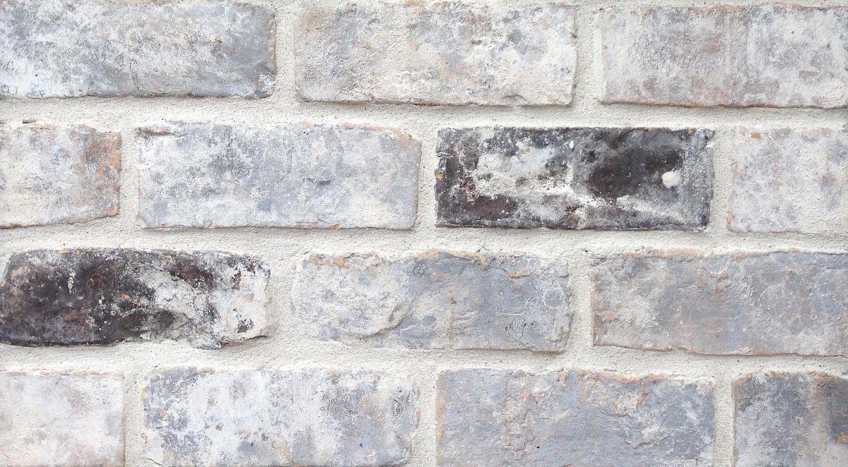 Old Texas Brick Grey Antique Thin Patio Paver Handmade Stock Grey .