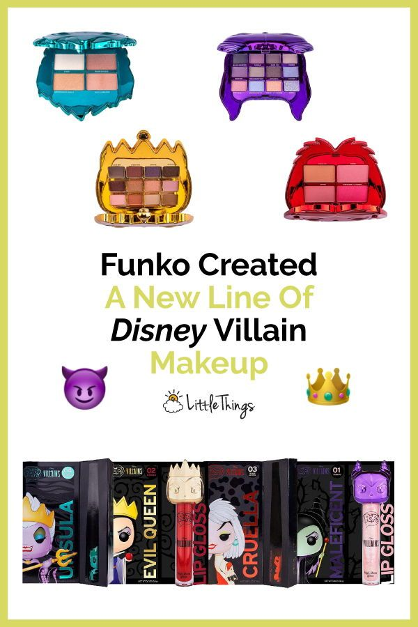 New Line Of Disney Villain Makeup Exists For Dark-Hearted Disney Fans: Ulta and Funko Pop teamed up to create an entire cosmetics line, complete with brushes, all based on Disney villain characters. #makeupstyle #disneymakeuppalettes #disneymakeuplooks #disneymakeupset