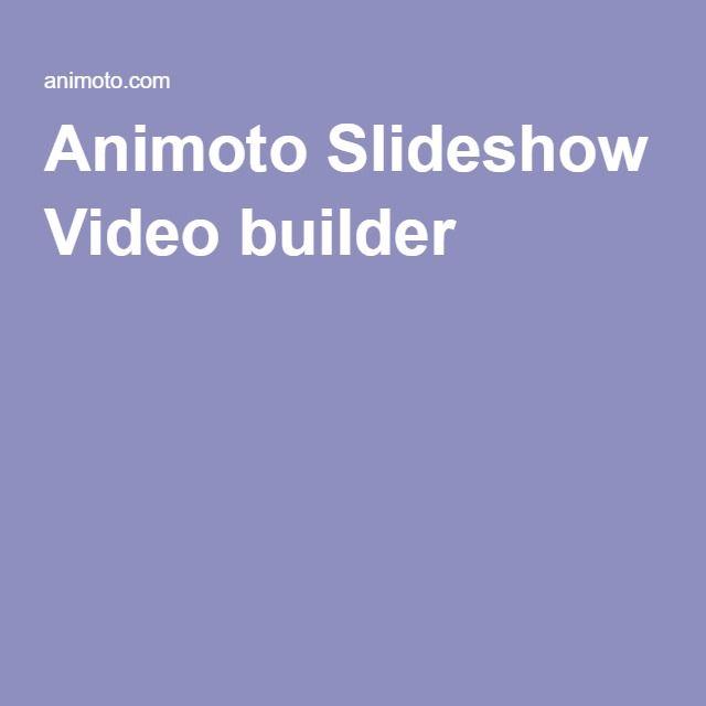 Animoto Slideshow Video builder