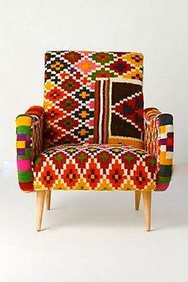 fauteuil tabarka en kilim vintage rock the kasbah philippe xerri fauteuil. Black Bedroom Furniture Sets. Home Design Ideas