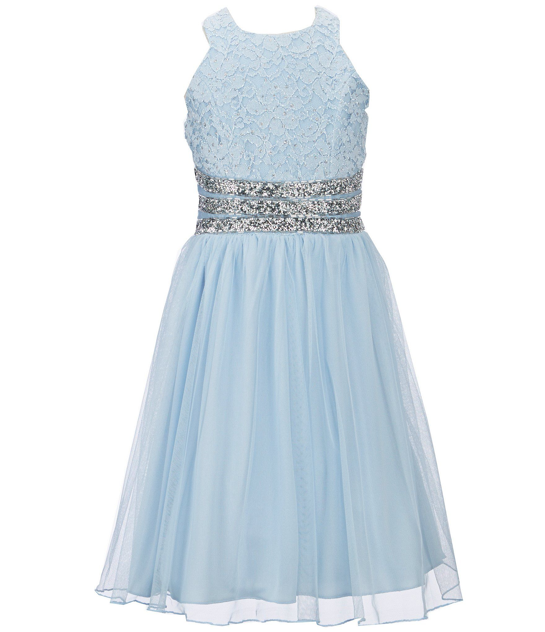 Xtraordinary big girls lacetulle fitandflare dress wedding