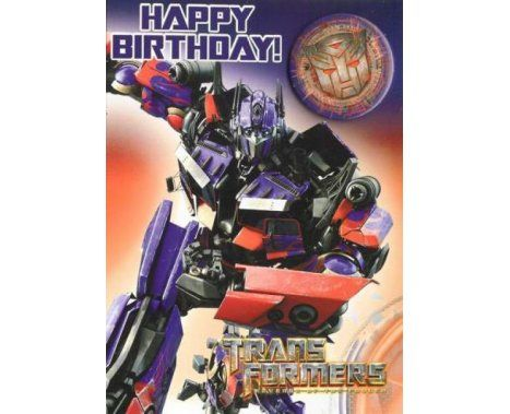 Transformers Birthday Card Birthday Cards BIRTHDAY CARD