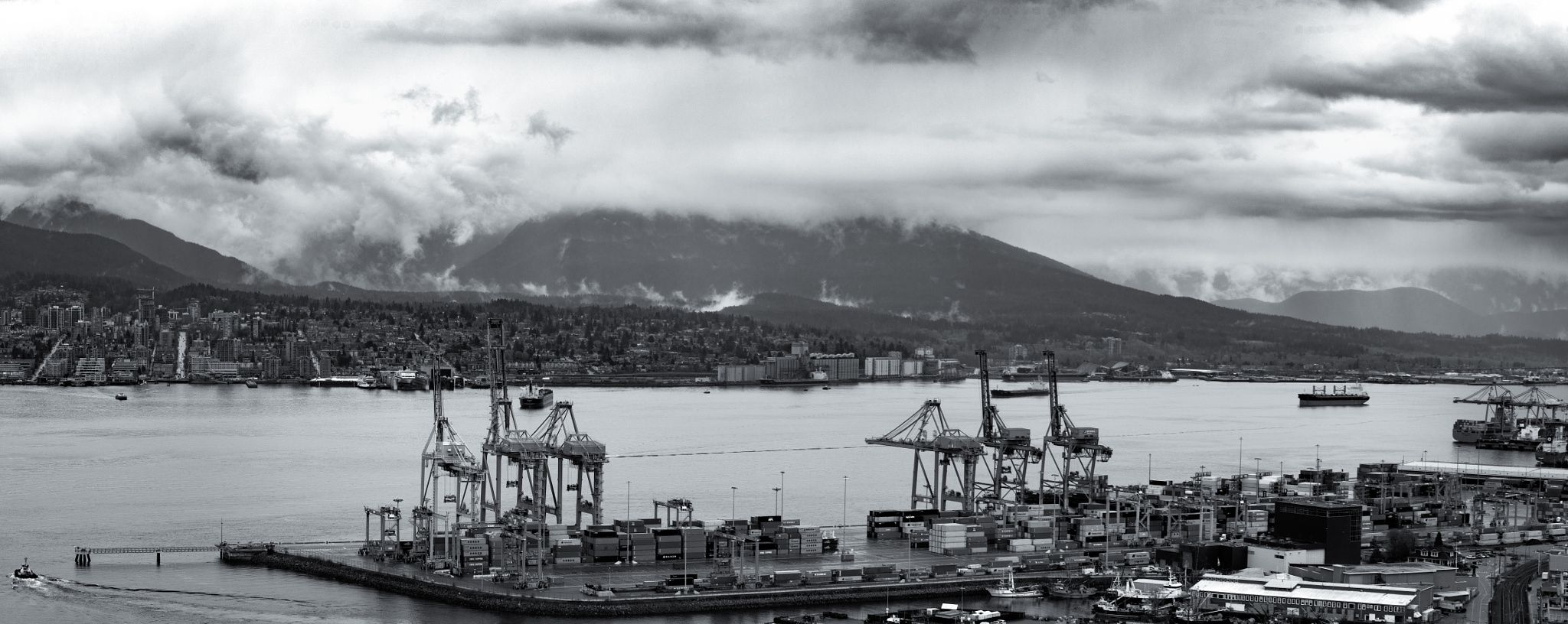 Vancouver Harbour - A rainy Thursday from the rooftop of my new digs.