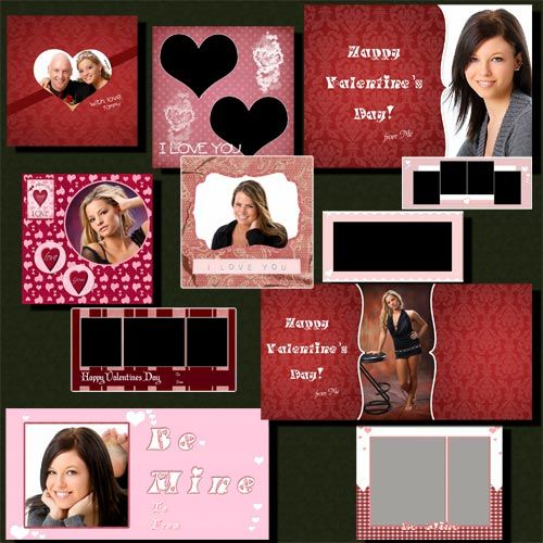 Valentine Photoshop Photo Template Collection Photo Collage Template Photoshop Photos Photo Template