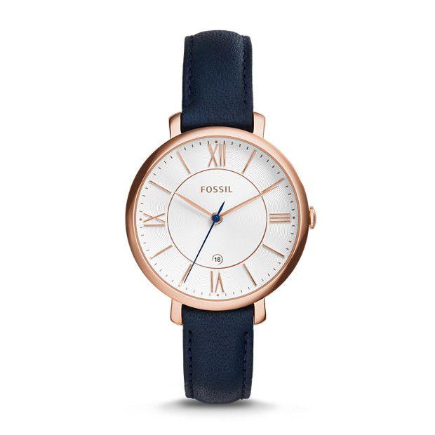 Damenuhren schwarz gold leder  Damenuhr Jacqueline - Leder - Blau   Damenuhren, Leder und Blau