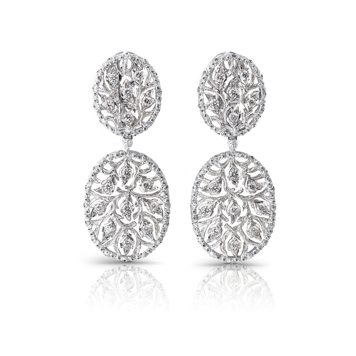 Ramage oval pendant earrings by buccellati jewellerygem selection