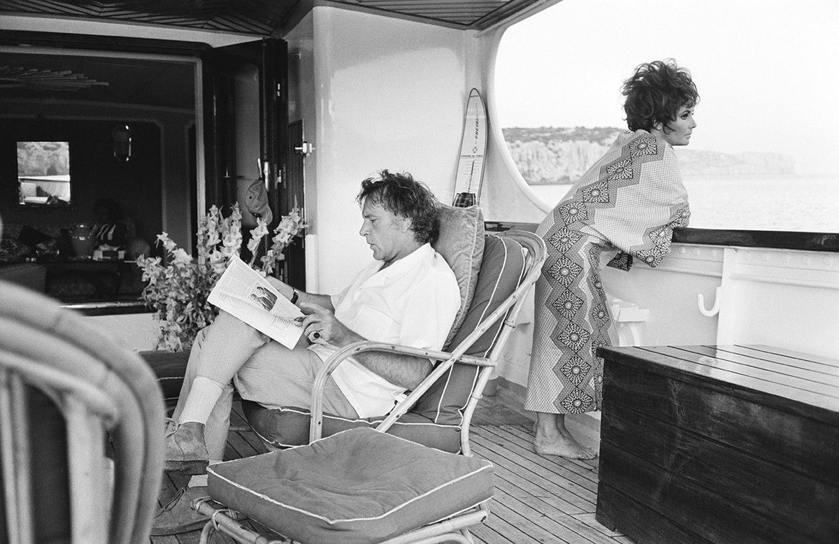 Photos All Aboard The Best Celebrity Yacht Photos Burton And Taylor Vintage Icons Elizabeth Taylor