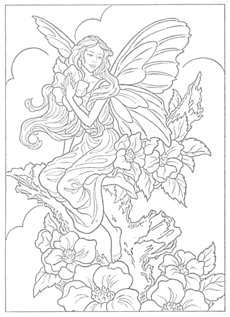 Fairies To Paint Or Color Coloring Book, Dover