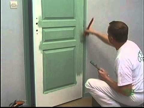 peindre sur une porte panneaux finition liss e youtube peinture vernis laques. Black Bedroom Furniture Sets. Home Design Ideas