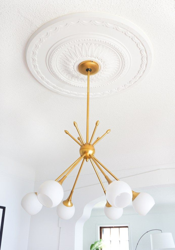 How To Center A Light Fixture Using A Ceiling Medallion Ceiling