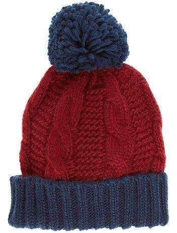 meilleures chaussures dernière vente boutique pour officiel Bonnet bicolore à pompon … | tricot e crochet | Bonne…