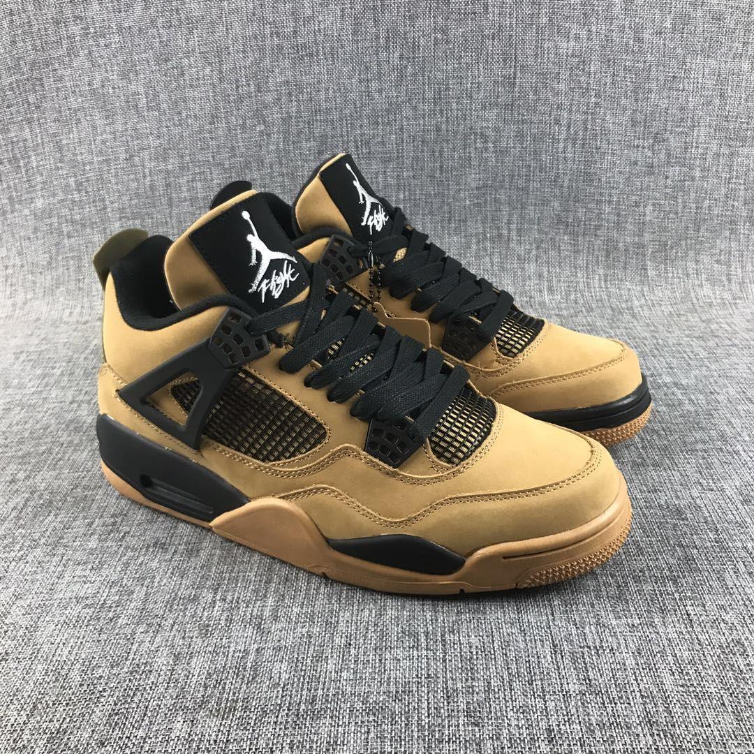 pretty nice 51075 d511a Travis Scott x Air Jordan 4 Brown Black Shoes | Jordan Shoes ...