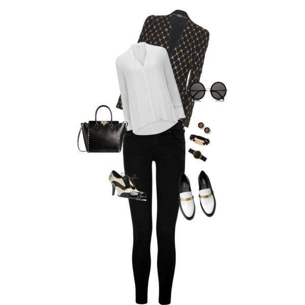 A fashion look from November 2014 featuring Helmut Lang blouses, Alexander McQueen blazers and True Religion jeans. Browse and shop related looks.
