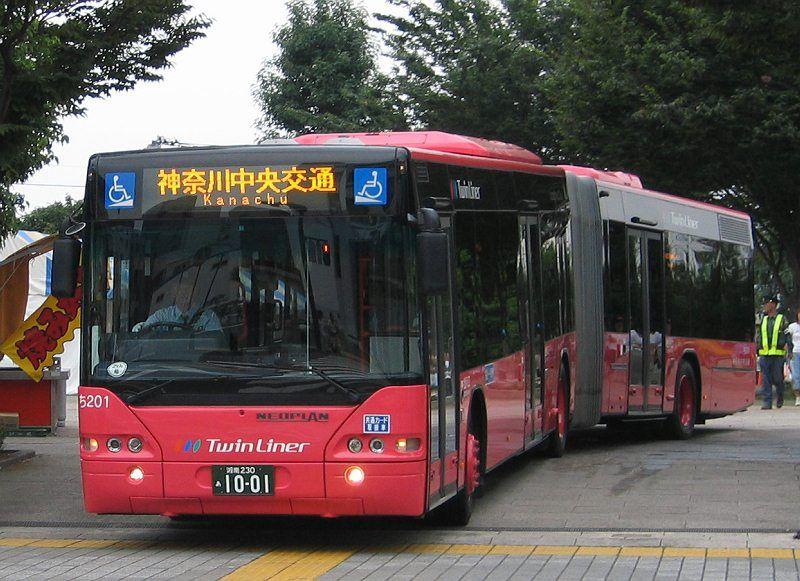 Gelenkbus Neoplan Twinliner, Kanagawa Chuo Kotsu(Kanagawa Zentralverkehr Gesellschaft), Stadt Fujisawa/JAPAN