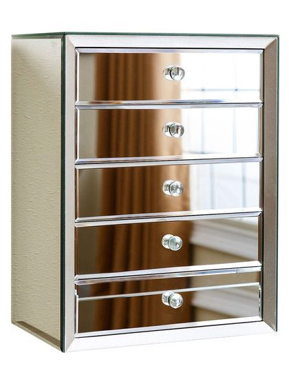 Omni Mirrored 5Drawer Jewelry Box by Abbyson Living at Gilt