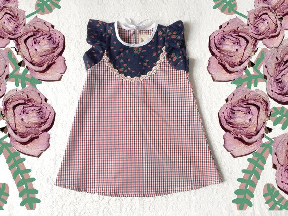 Sweet Rose vintage style baby toddler spring dress by supayana