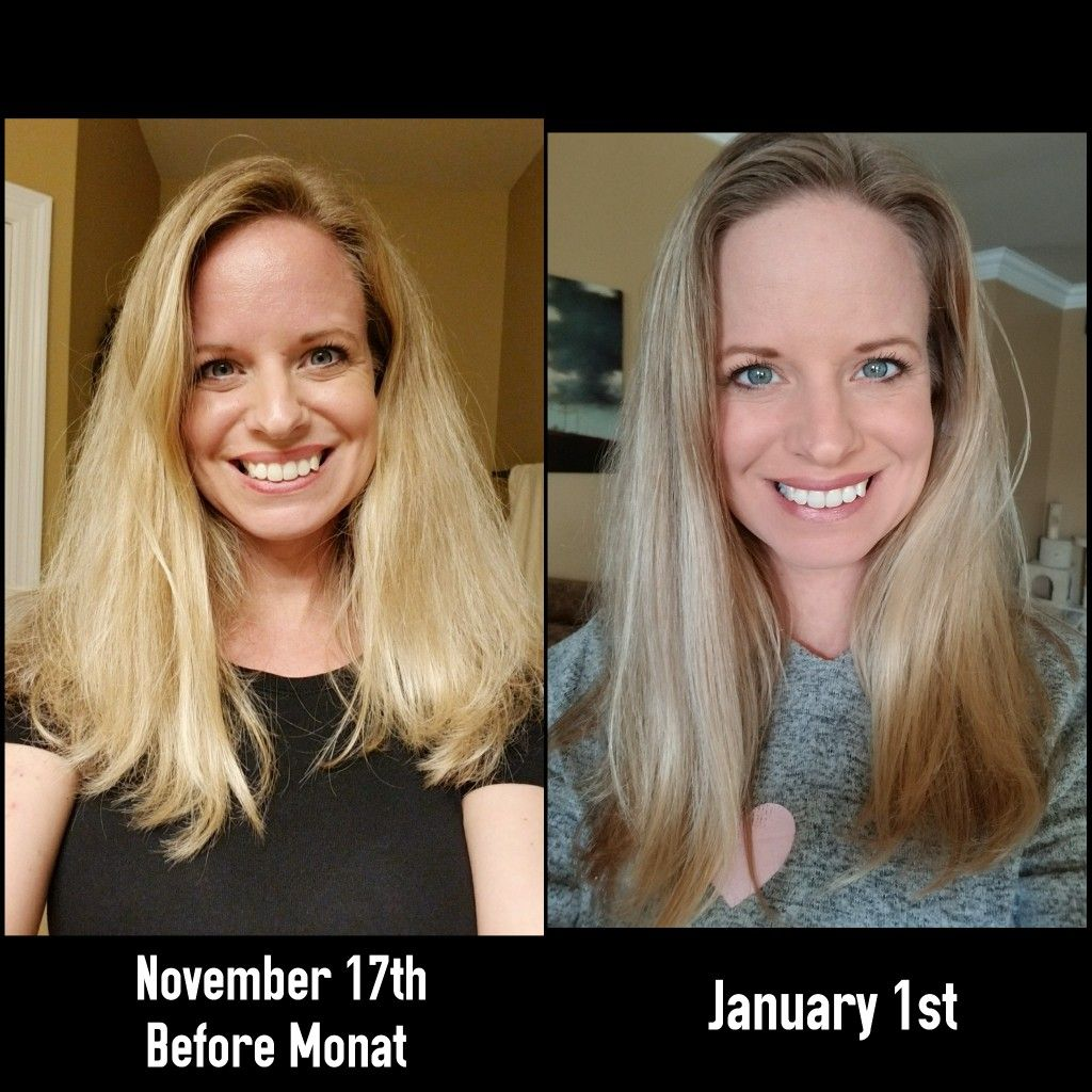 Thank you Monat! Good bye frizz and damage. Both air dry