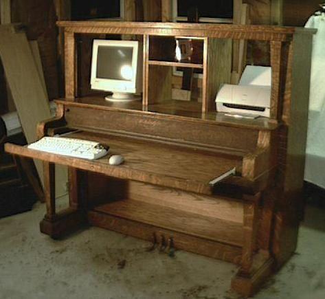 Piano Desk! | Piano desk, Repurposed furniture, Furniture