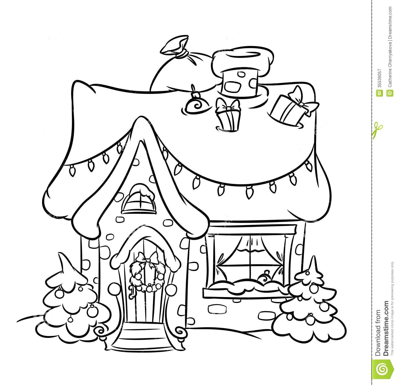 Image Result For Whoville House Christmas Coloring Pages Coloring Pages House Colouring Pages