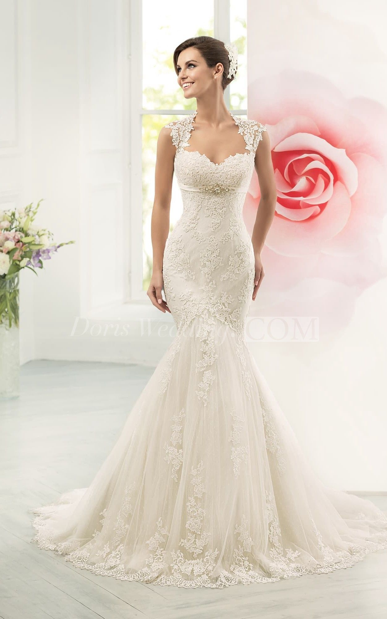 Us 156 89 Cap Sleeve Open Back Mermaid Lace Wedding Dress Www D Lace Mermaid Wedding Dress Lace Sweetheart Wedding Dress Wedding Dresses Sweetheart Neckline [ 2000 x 1251 Pixel ]