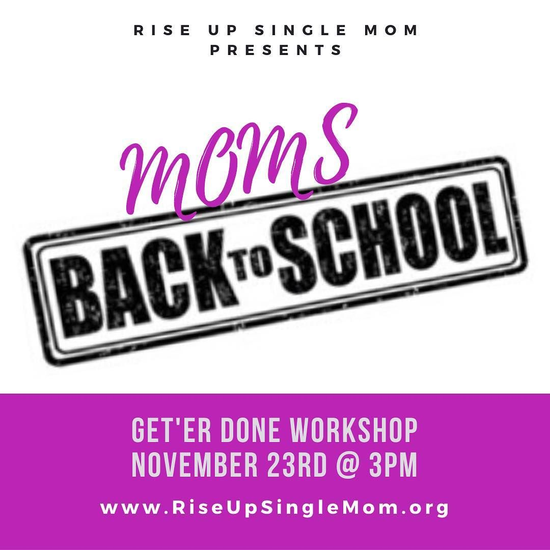Calling all SINGLE MOMS! See you next Saturday at this