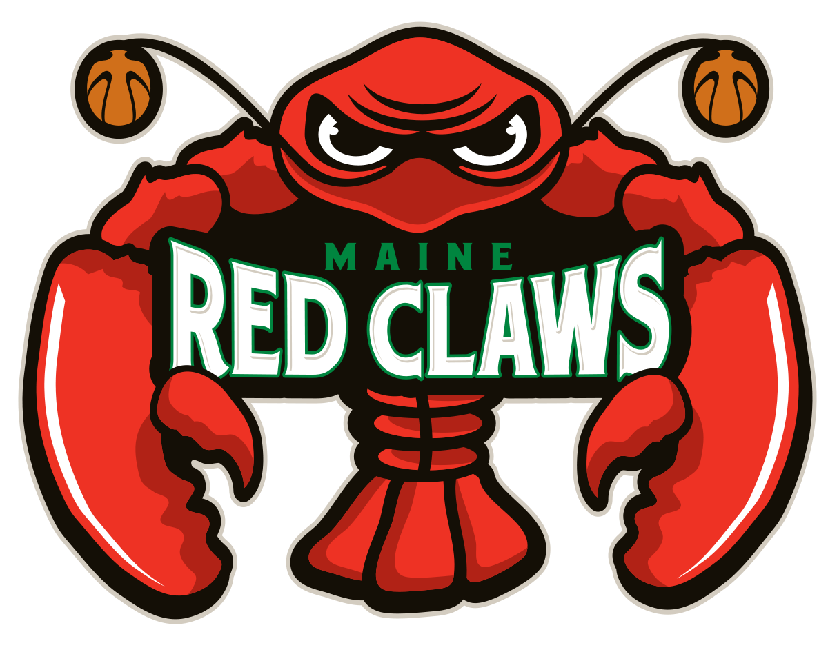 Maine Red Claws Logo basketball, League, Maine