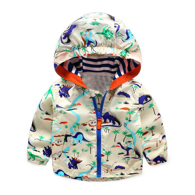 8221325a1 Kids Girls Boys Jacket Cartoon Dinosaur Pattern Baby Boy Girl Autumn ...