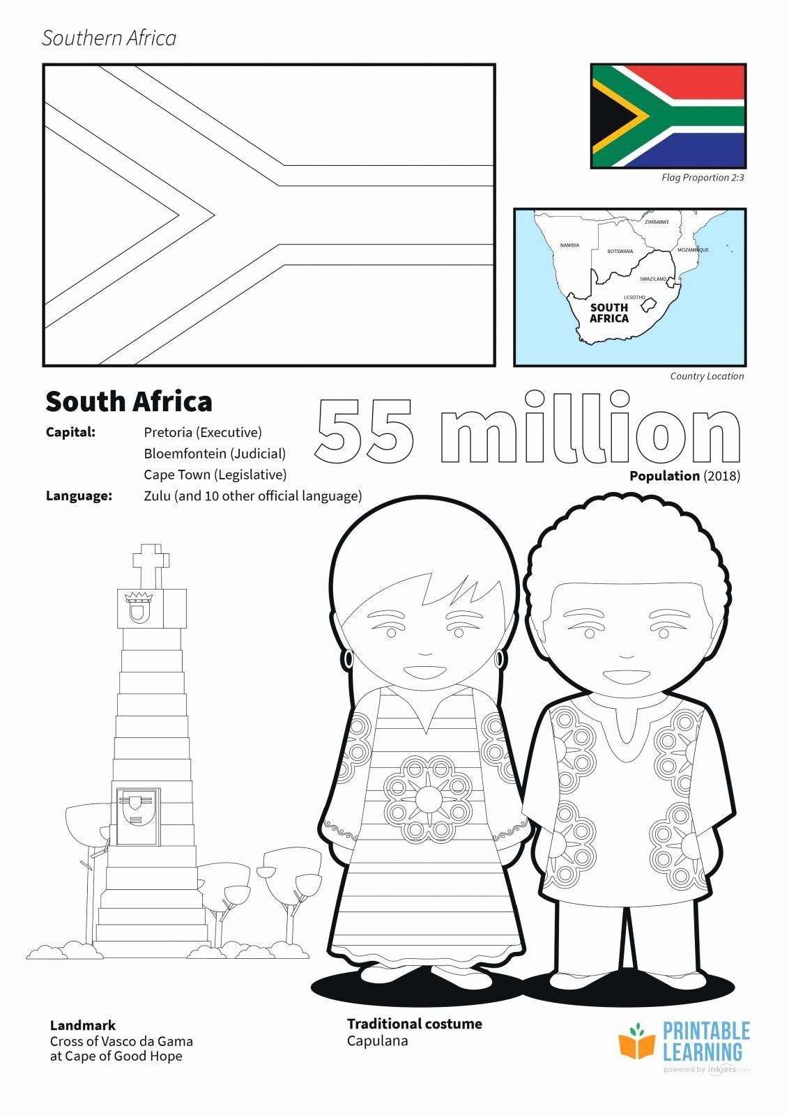 Africa Map Coloring Pages Fresh Countries Africa