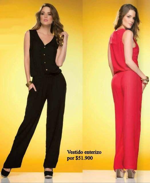 67de709ea4 Vestido enterizo de Ryocco 2015 elaborado en chalis. Ropa de moda colombiana