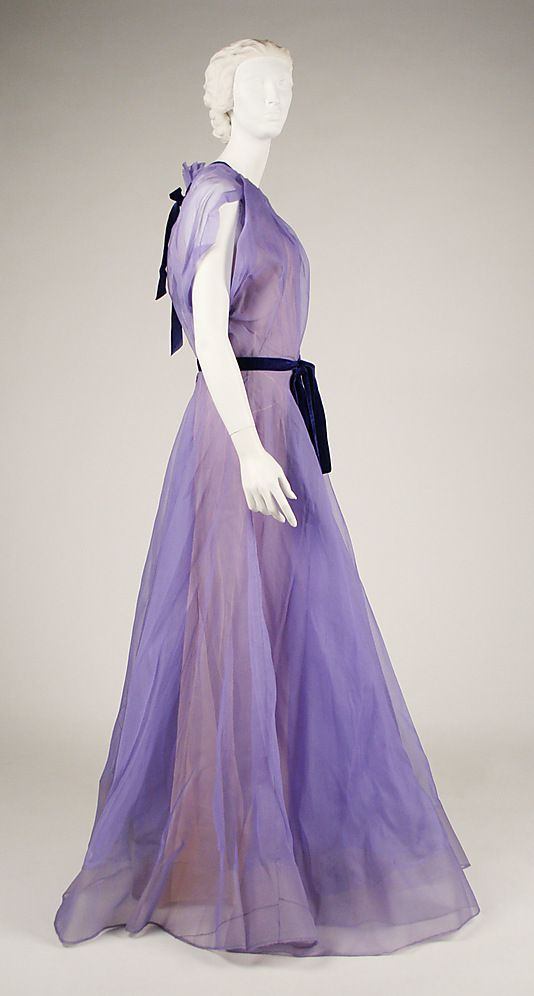 Dress House of Worth Date: 1928–29 Culture: French Medium: silk ...