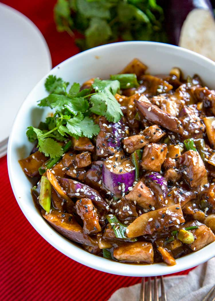 Spicy Eggplant with Pork Recipe | MyRecipes |Spicy Eggplant Pork Recipe