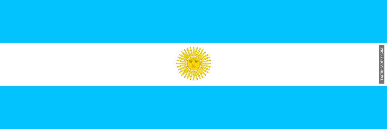 Argentina Flag Twitter Header Cover
