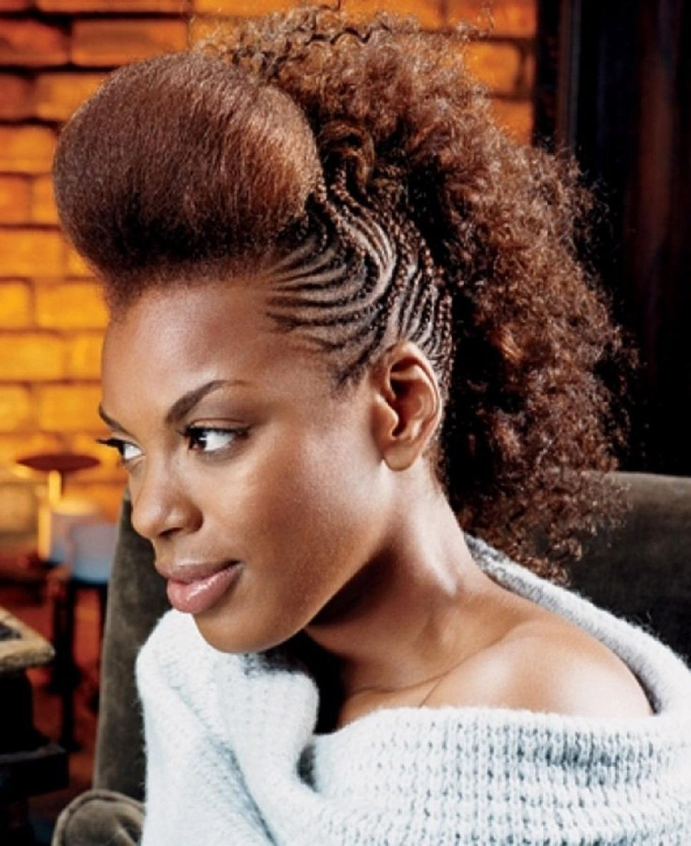 Shocking mohawk braids braided hairstyles that get attention for