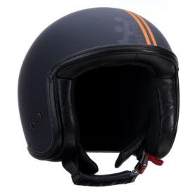 casque jet line scooter moto a style vintage fashion noir orange mat men jet helmets. Black Bedroom Furniture Sets. Home Design Ideas